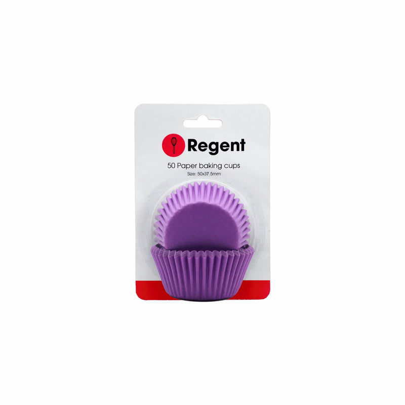 REGENT CAKE CUPS SOLID VIOLET, 50 PCS (50X32.5MM)