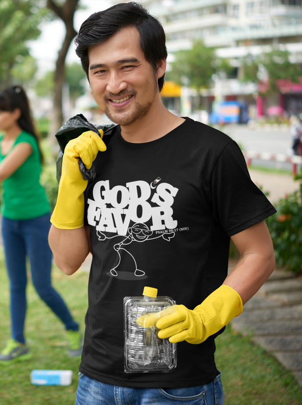 God's Favor - Unisex Tee Black