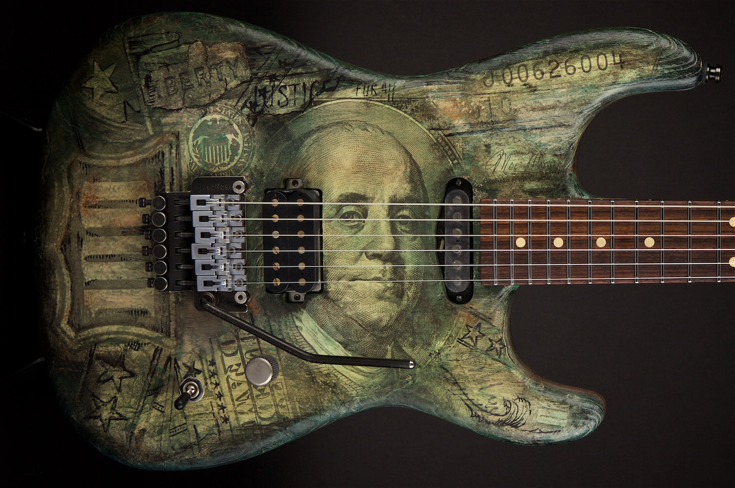Luxxtone Guitars El Machete 22 $100 Dollar Bill # #0113