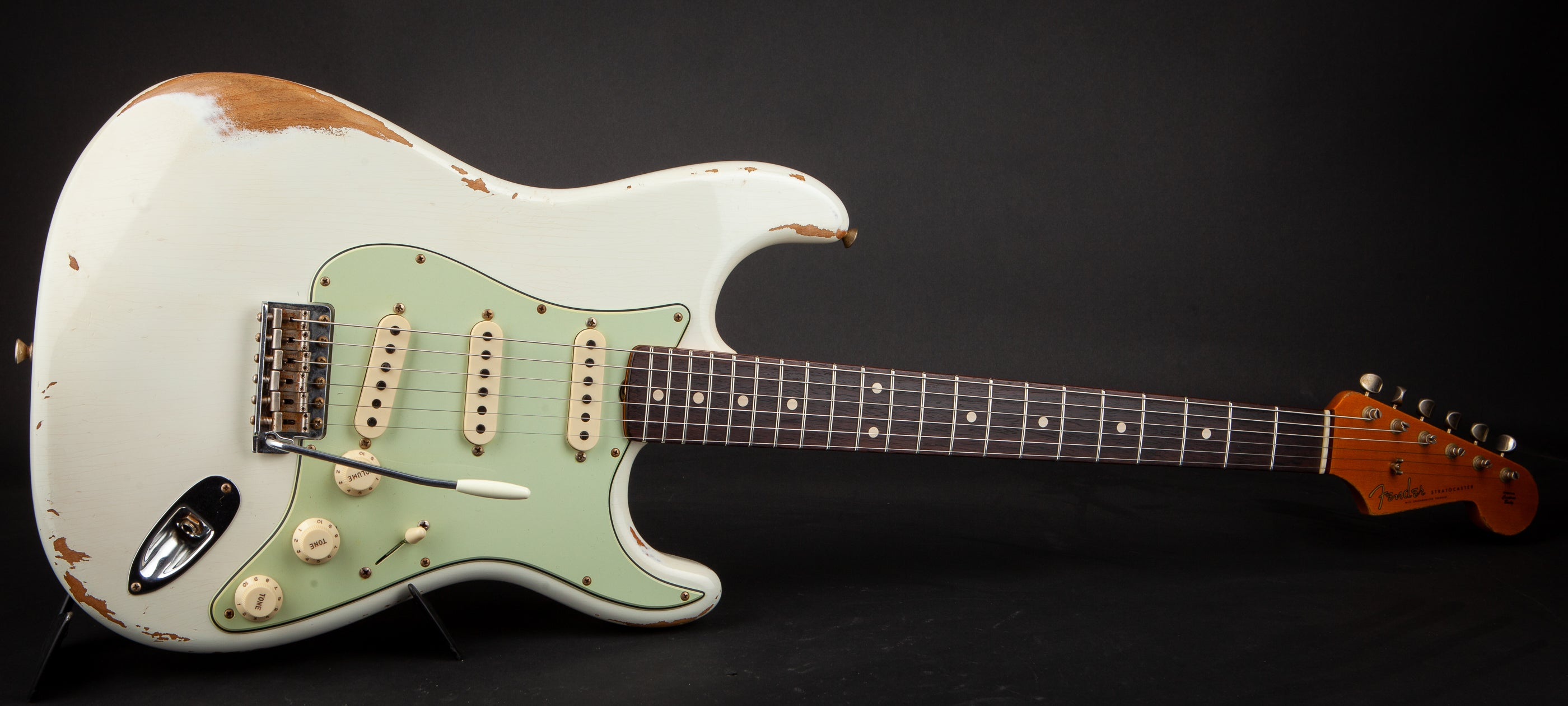 Fender Custom Shop: 59 Stratocaster Heavy Relic Aged Olympic White CZ547507