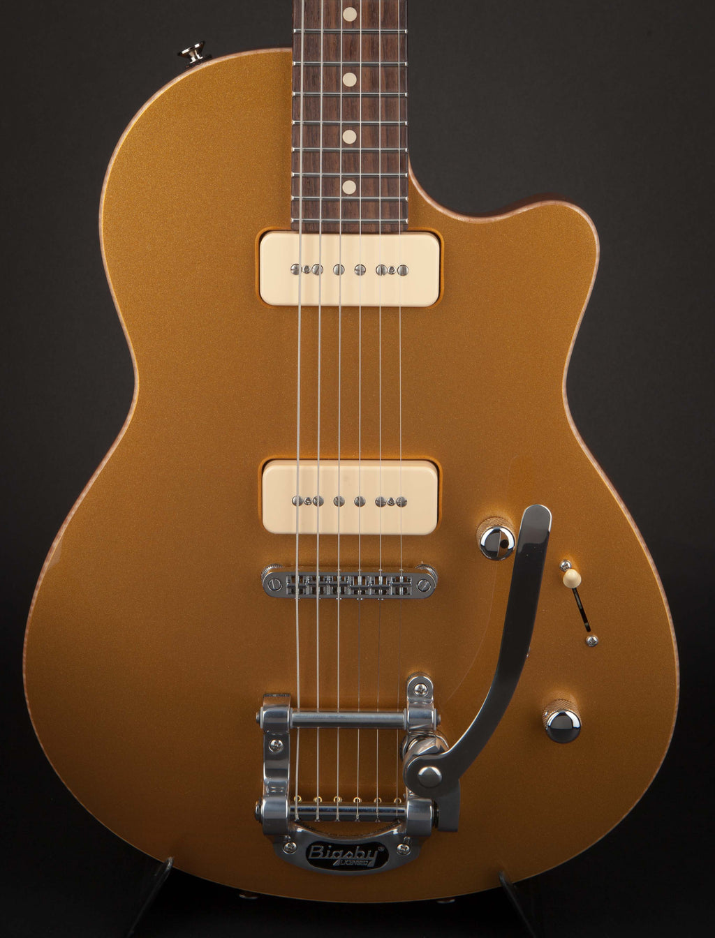 Tom Anderson Atom Hollow Firemist Gold with Bigsby #09-08-15N