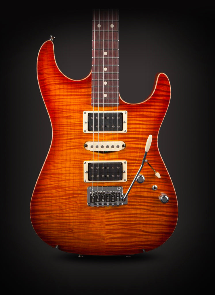 Tom Anderson: Drop Top Honey Burst with Binding #01-28-20N