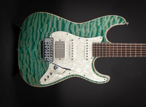 Tom Anderson: Drop Top Classic Private Reserve Quilted Maple Top Teal Frost 11-10-19A