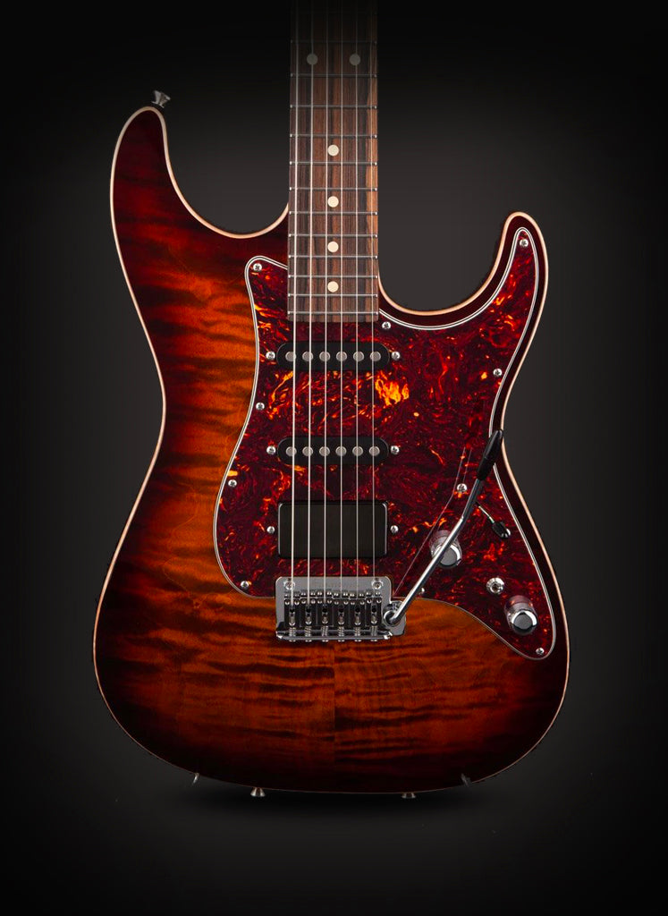 Tom Anderson: Drop Top Classic Tiger Eye Burst #11-23-18P
