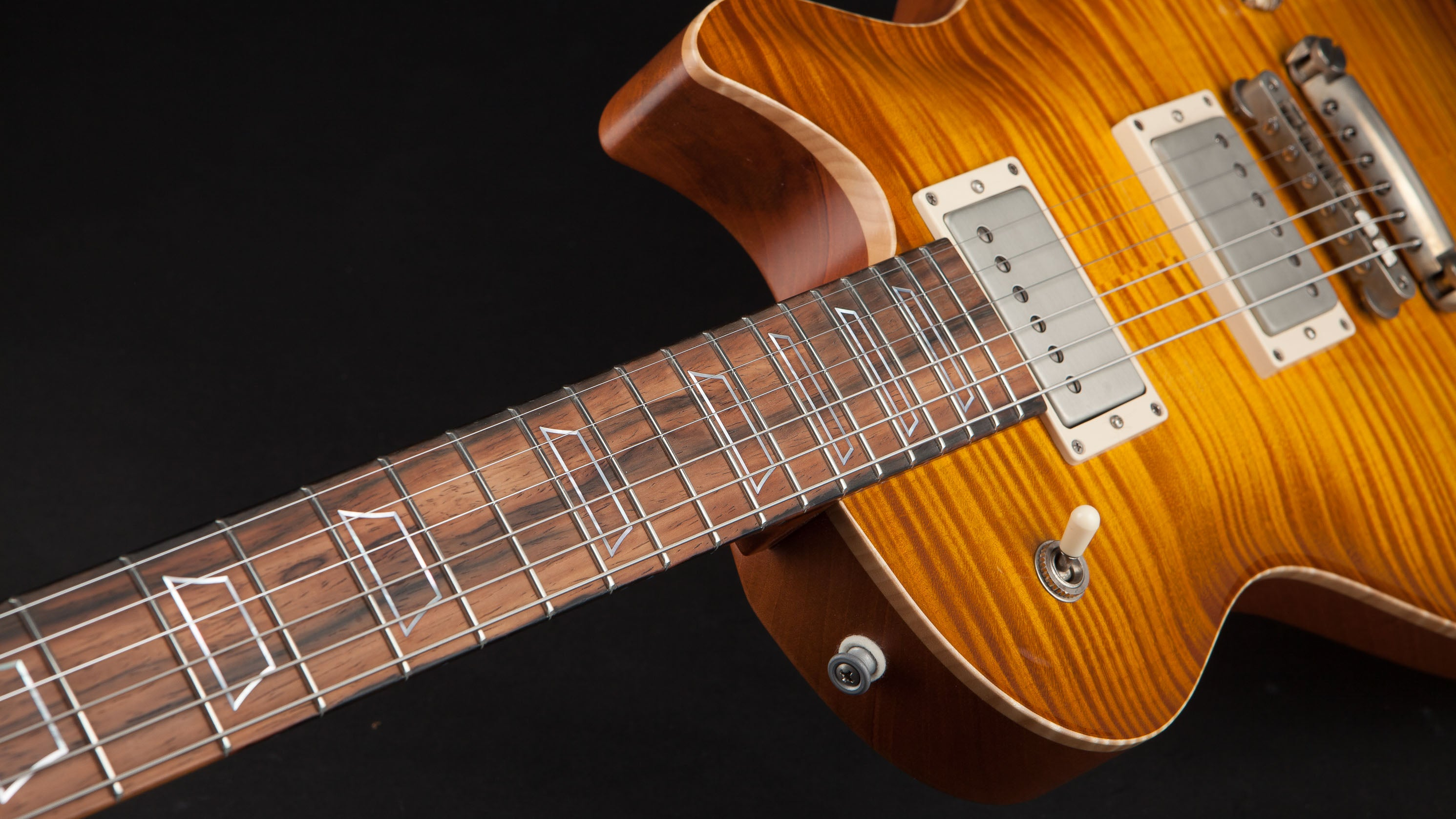 Patrick James Eggle: Macon Singlecut Faded Gold Burst with Brazilian Fretboard #20326