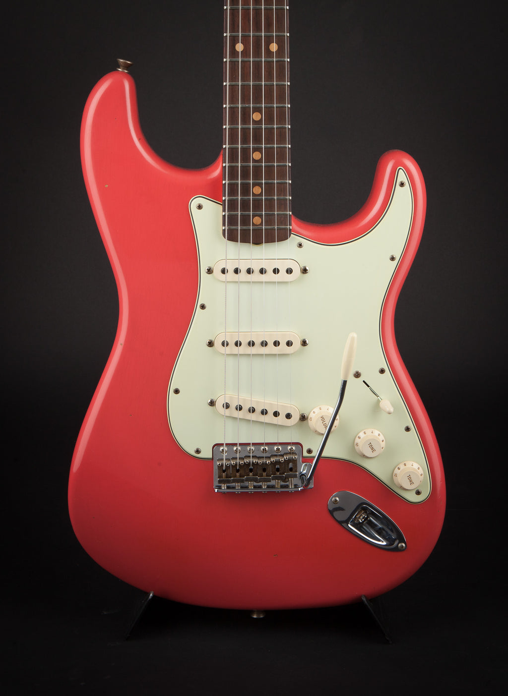 Fender Custom Shop:60 Stratocaster Journeyman Faded Fiesta Red R101716