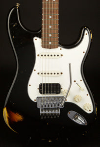 Fender Custom Shop Stratocaster 69' Ltd Edition Black over 3 Tone Sunburst with Floyd and Humbucker #R68728
