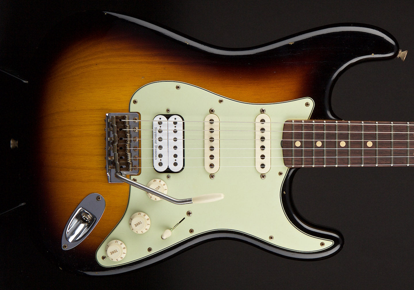 Fender Custom Shop Stratocaster WG/John Cruz Spec 63 Strat Journeyman Relic 2 Tone Sunburst #R83949