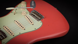 Fender Custom Shop:60 Stratocaster Journeyman Faded Fiesta Red R96337