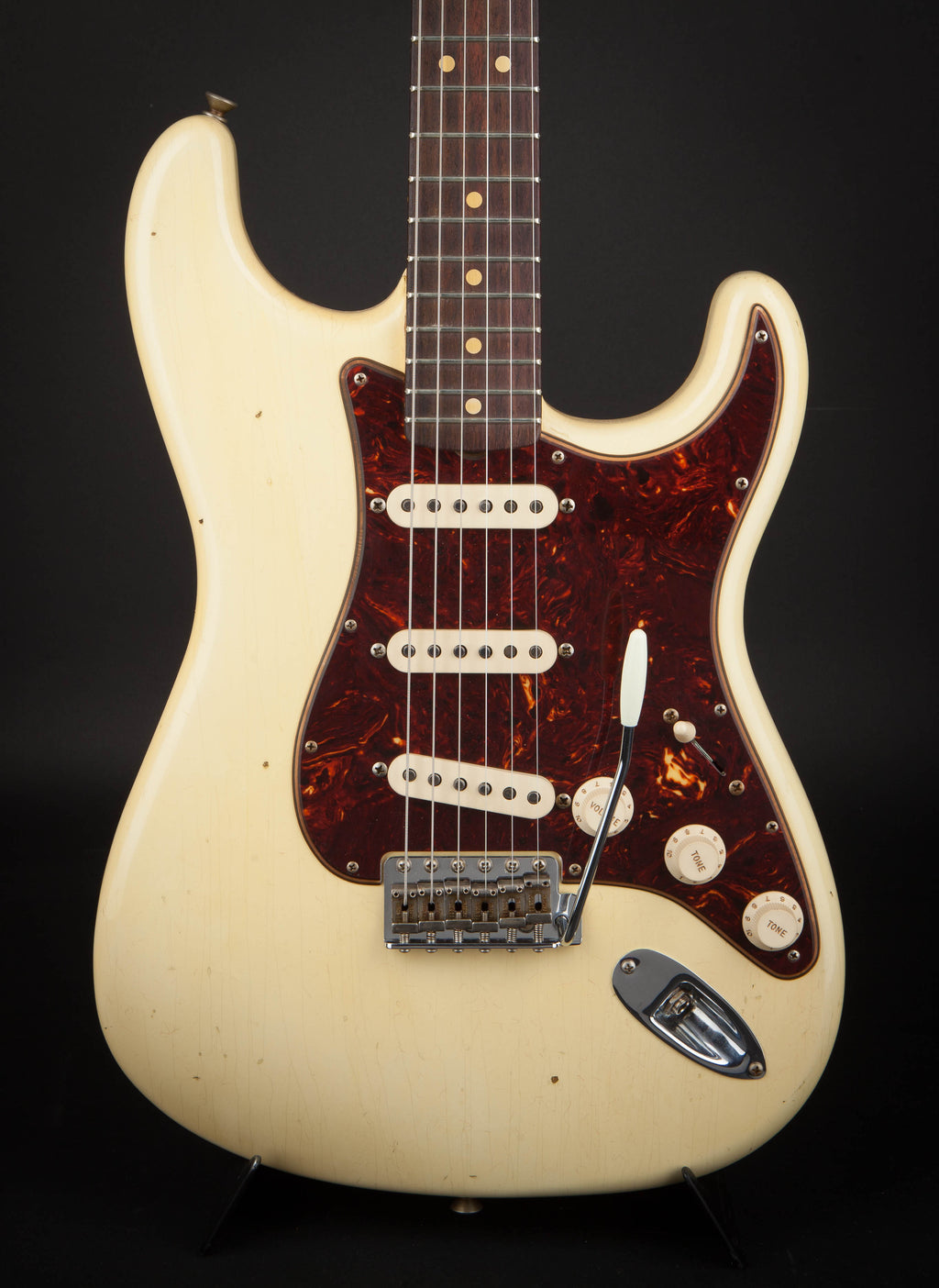 Fender Custom Shop:63 Stratocaster Journeyman Vintage White R100605