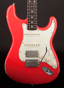 Smitty Guitars: 60's Classic S Fiesta Red with Mastergrade Roasted Flame Maple Neck