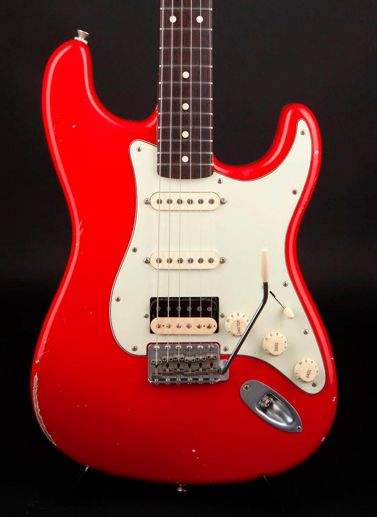 Smitty Guitars: 60's Classic S Dakota Red with Mastergrade Roasted Flame Maple Neck