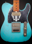 Palir Guitars:Mojo Titan Daphne Blue over Cardinal Red #811712