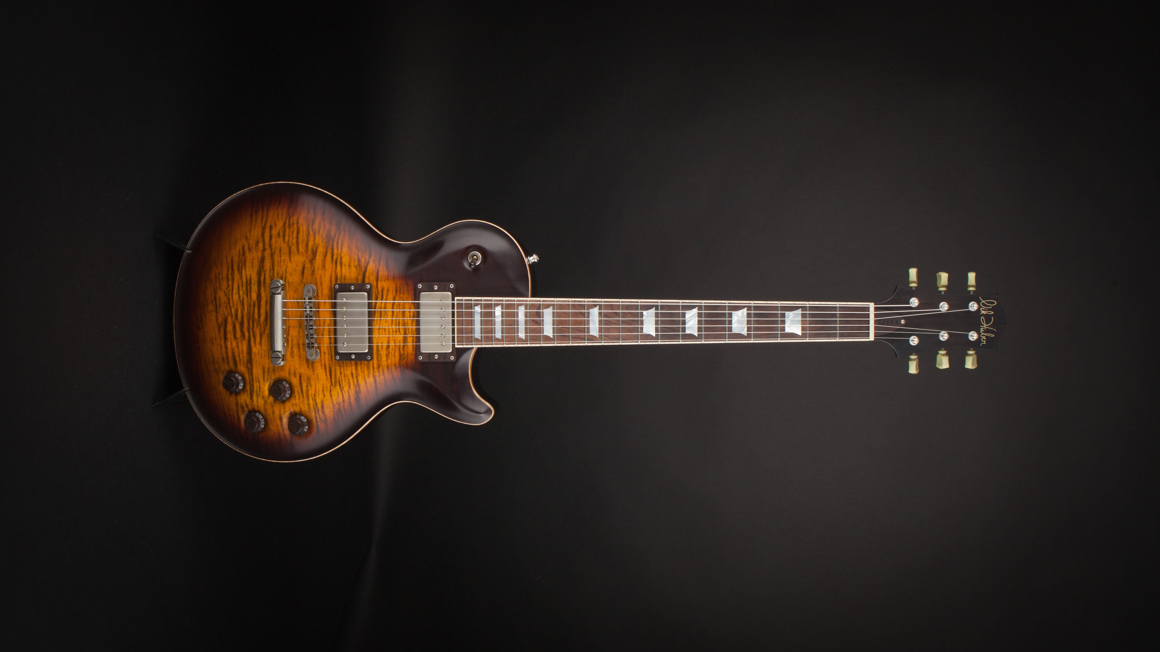 Nik Huber Orca 59 Super Hollow Tiger Eye Burst & Brazilian Fingerboard #62265