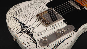 Palir Guitars:Mojo Titan Aged White with Black Grain