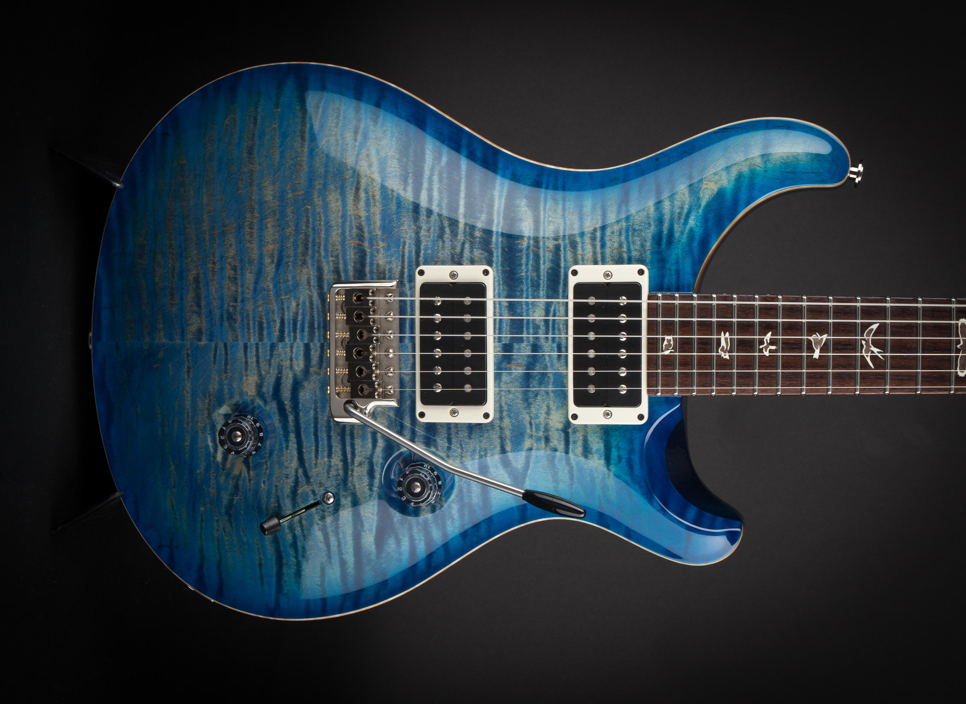 PRS Guitars: Custom 24 Faded Blue Burst 10 Top #185226