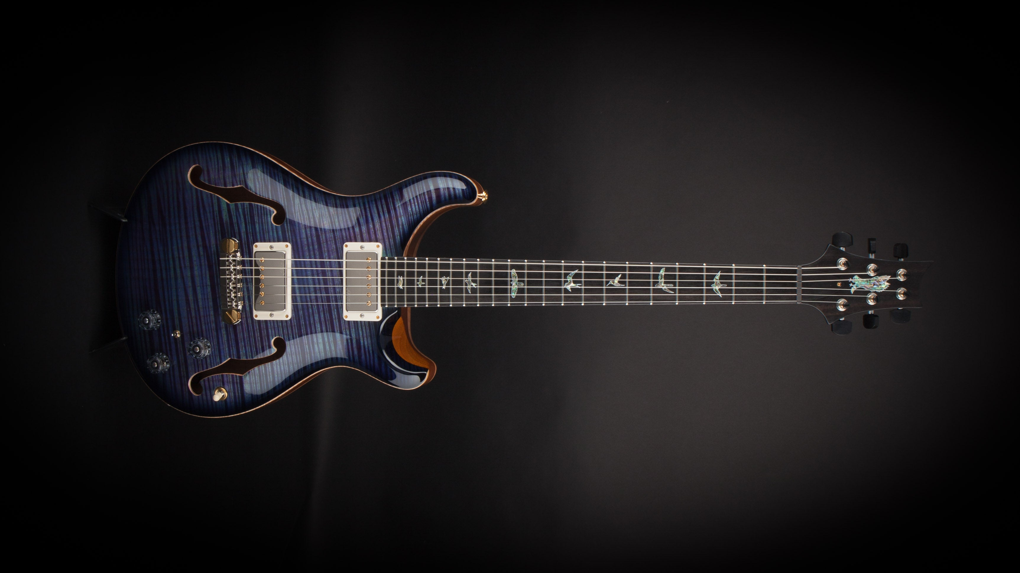 PRS Private Stock Hollowbody II Aqua Violet Smoked Burst #6586