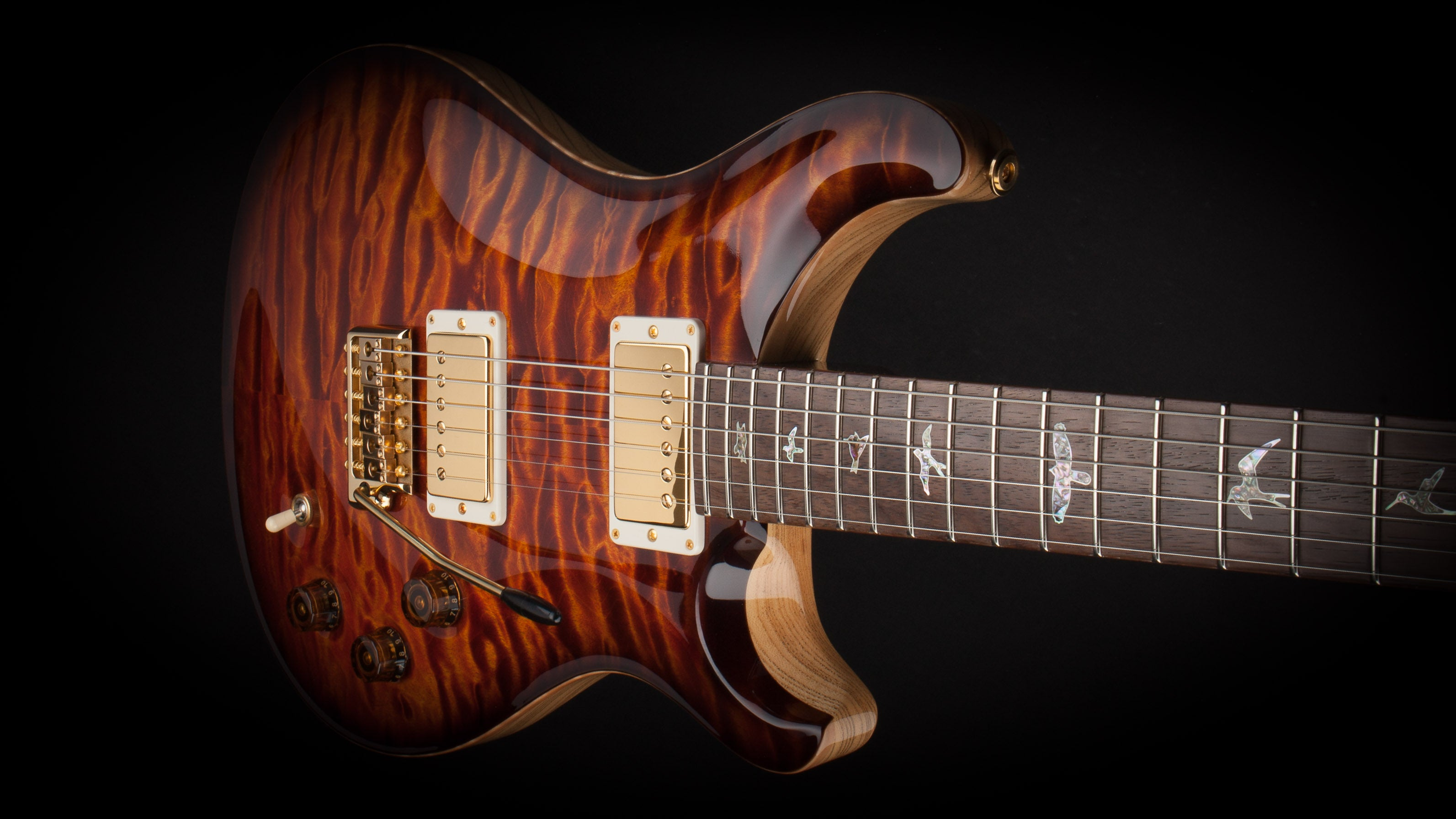 PRS Private Stock DGT Electric Tiger Smoked Burst with Brazilian Rosewood Fingerboard #6400