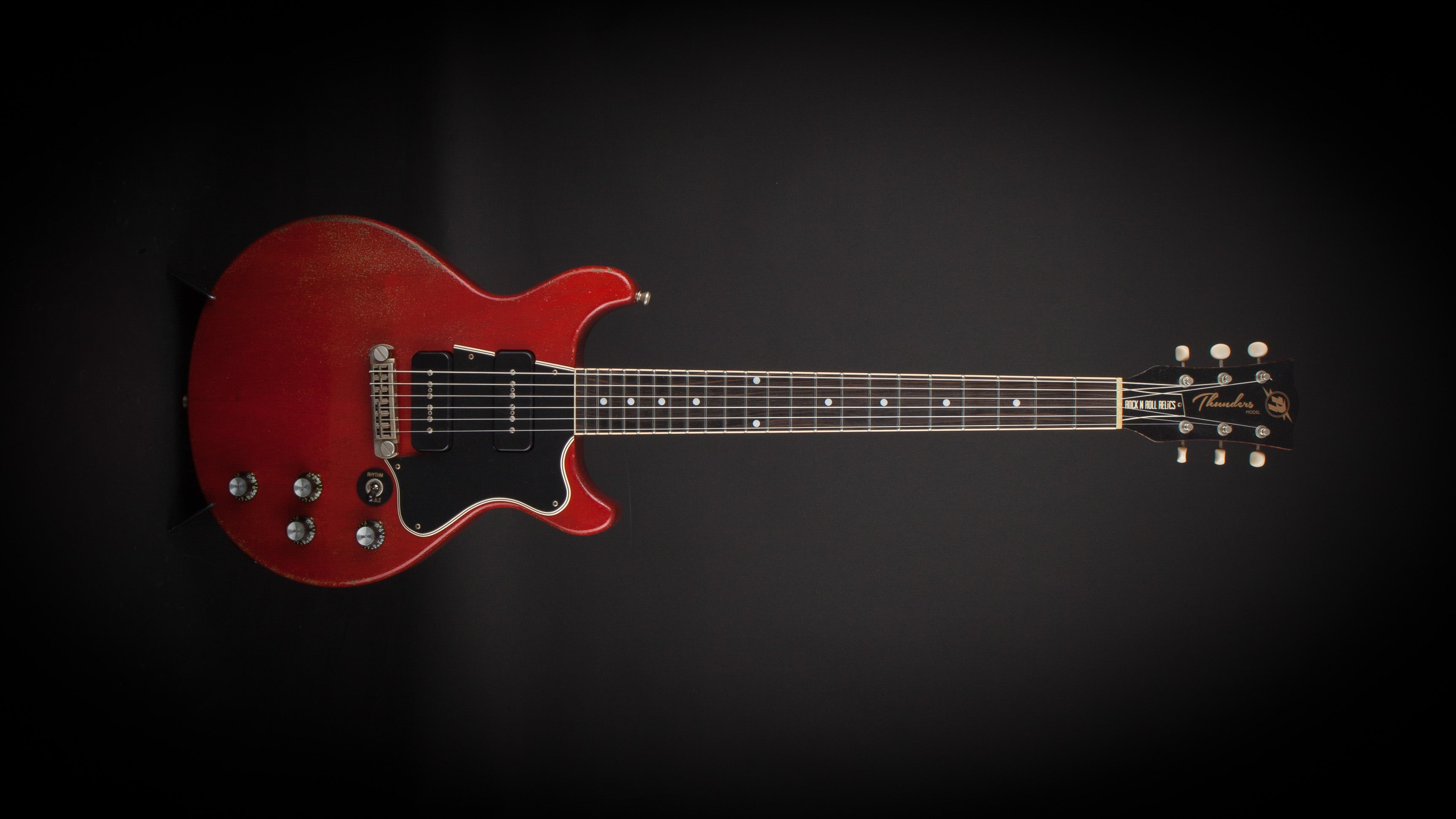 Rock n Roll Relics: Thunders Cherry Red with P90's #19881