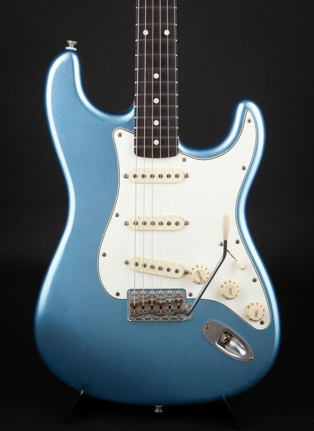 Smitty Guitars: 60's Classic S Lake Placid Blue with Mastergrade Roasted Flame Maple Neck