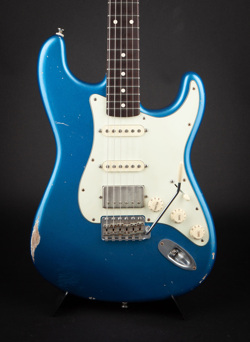 Smitty Guitars: Classic S Lake Placid Blue with Mastergrade Roasted Birdseye Maple Neck