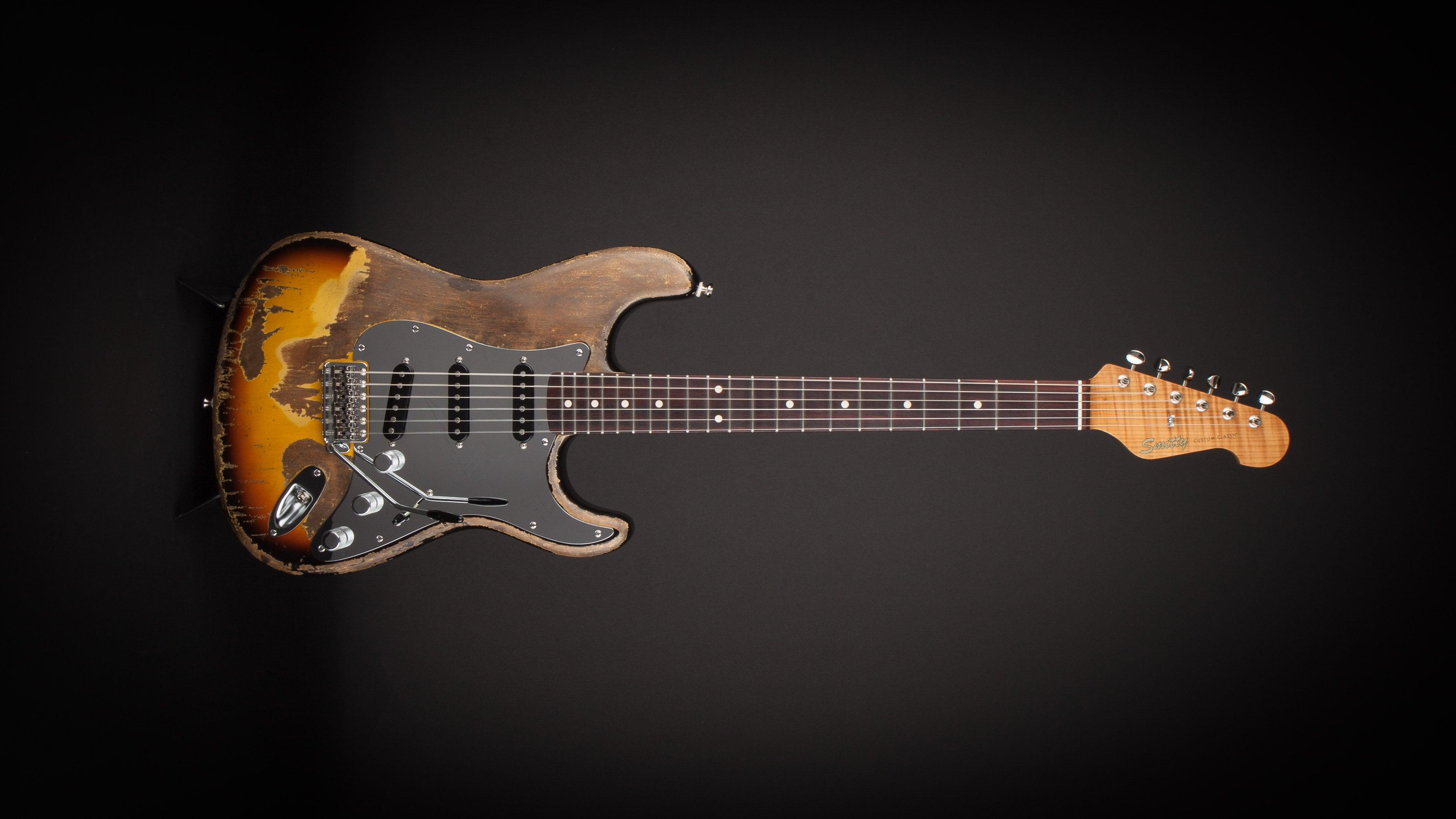 Smitty Guitars HZ Inspired Classic S with Mastergrade Roasted Flame Maple Neck