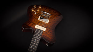 Smitty Guitars Model 2 Quilt with Mastergrade Quilt Maple Neck