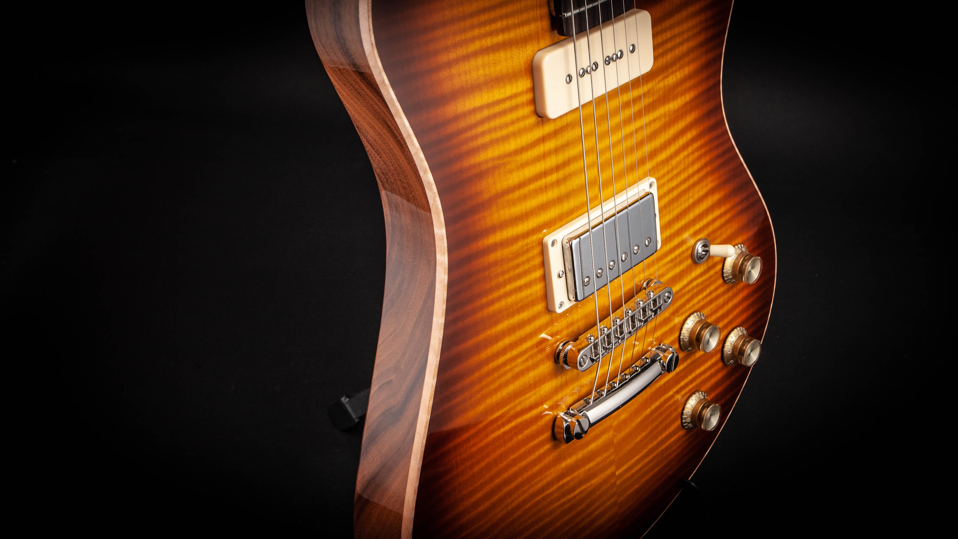Smitty Guitars: Model 2 American Walnut with Mastergrade Flame Maple Sunburst
