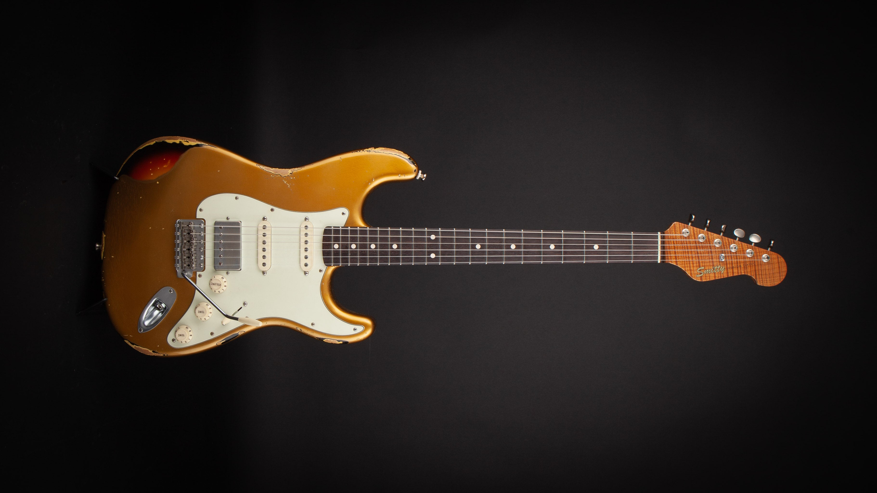 Smitty Guitars Classic S Gold over Sunburst