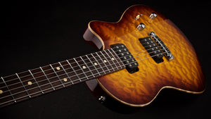 Tom Anderson Atom Dark Cherry Burst with Binding #11-01-05N