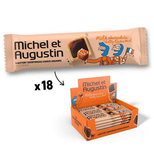 4 Cookie Squares - Milk Chocolate and Melty Caramel (18 count)