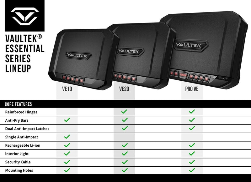 Vaultek VE20 Compact Travel Safe (Essential Series) - www.marineonetactical.com