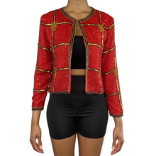 Load image into Gallery viewer, Vintage Beaded Sequin Jacket (Size 10)