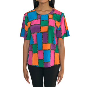 """Spirit"" Color Block Blouse"