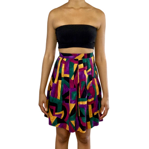 Vintage Multi Color Skirt (Size 4)