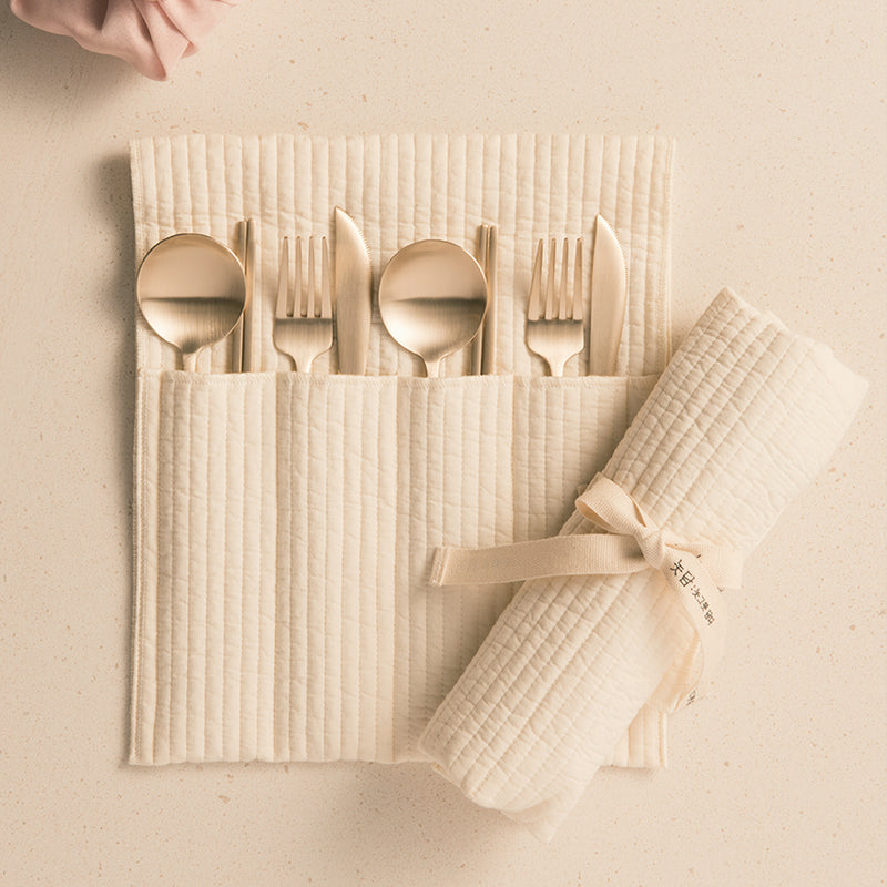 [Notdam] Quilted Cutlery Pouch (4pc)