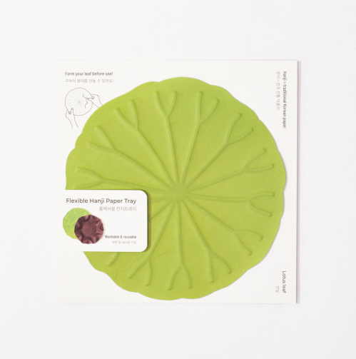 [KHJ Studio] Hanji Lotus Leaf Tray (M)