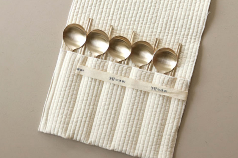[Notdam] Quilted Cutlery Pouch (5pc)