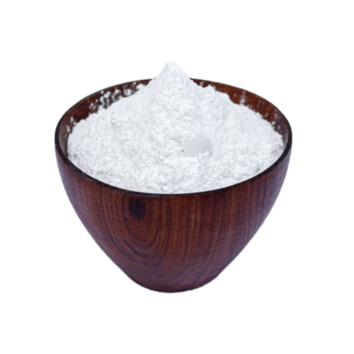 Double Acting Aluminum Free Baking Powder in a wooden bowl