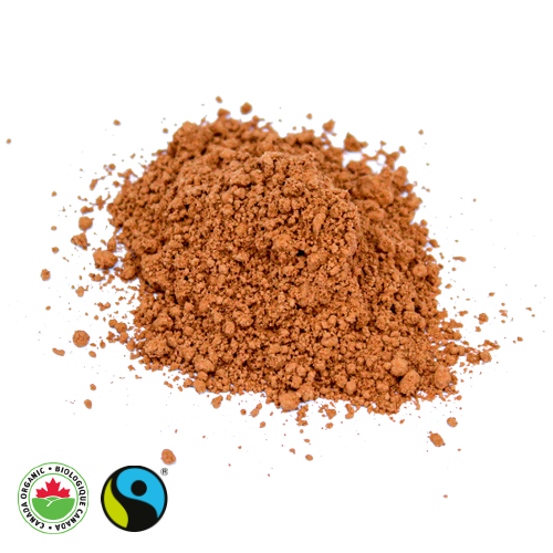 Organic Fair Trade Natural Cocoa Powder Pile - HAMA Organics