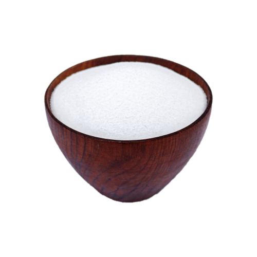 Natural Pure Sea Salt in a teak bowl - HAMA Organics