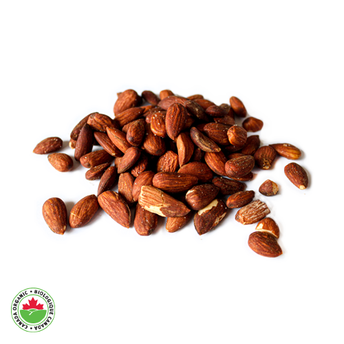 Organic Salted Roasted European Guara Almonds - HAMA Organics