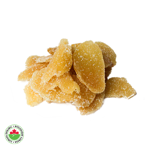 Organic Crystallized Sliced Ginger - HAMA Organics