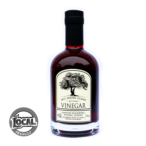 Fruit Balsamic Vinegars - 375ml - Oak-Aged Blackberry in Fancy Glass Bottle