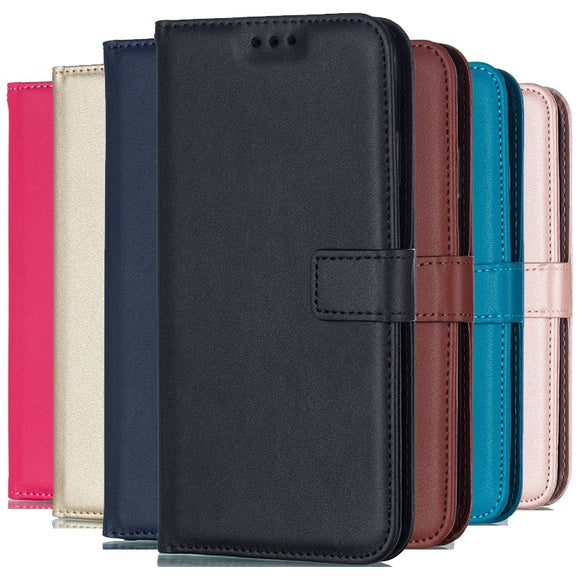 Solid Color Leather Wallet Case For iPhone XS MAX X XR 5 5S SE 5C 6 6S Plus 7 8 11 Pro Flip Cover Card Slot For iPhone 4 4S Bags