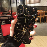 Lovebay Phone Case For iPhone 11 6 6s 7 8 Plus X XR XS Max Luxury Bling Gold Foil Marble Glitter Soft TPU For iPhone 11 Pro Max