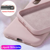 Case For Apple iPhone 11 Pro Max 6 S 7 8 Plus X XS MAX XR Cute Candy Color Couples Soft Silione Shockproof Back Cover