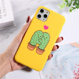 Silicone Phone Cases For iPhone 7 XR 11 Pro Avocado Waves Cactus For iPhone 5SE 6 6s 8 Plus X XS Max Soft TPU Back Cover