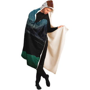 Landscape Collage Hooded Blanket