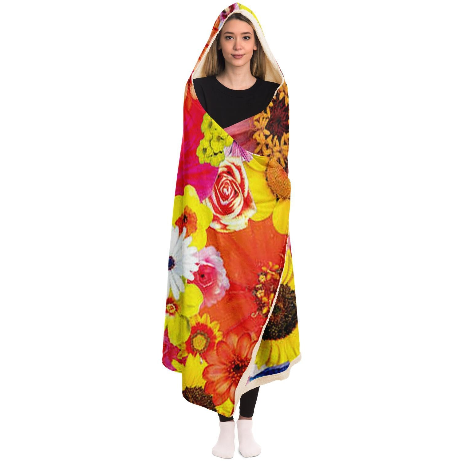 Flower Frida Hooded Blanket